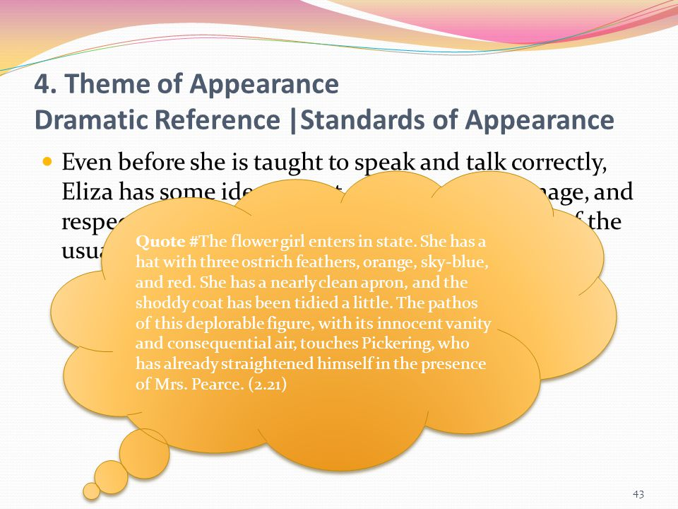 4. Theme of Appearance Dramatic Reference |Standards of Appearance