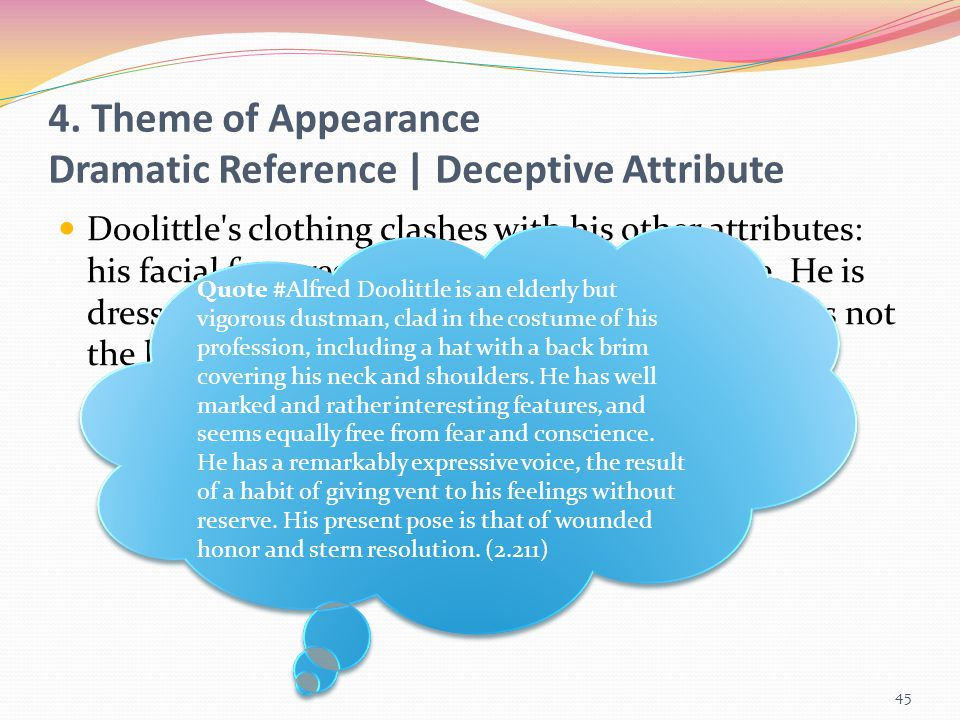4. Theme of Appearance Dramatic Reference | Deceptive Attribute