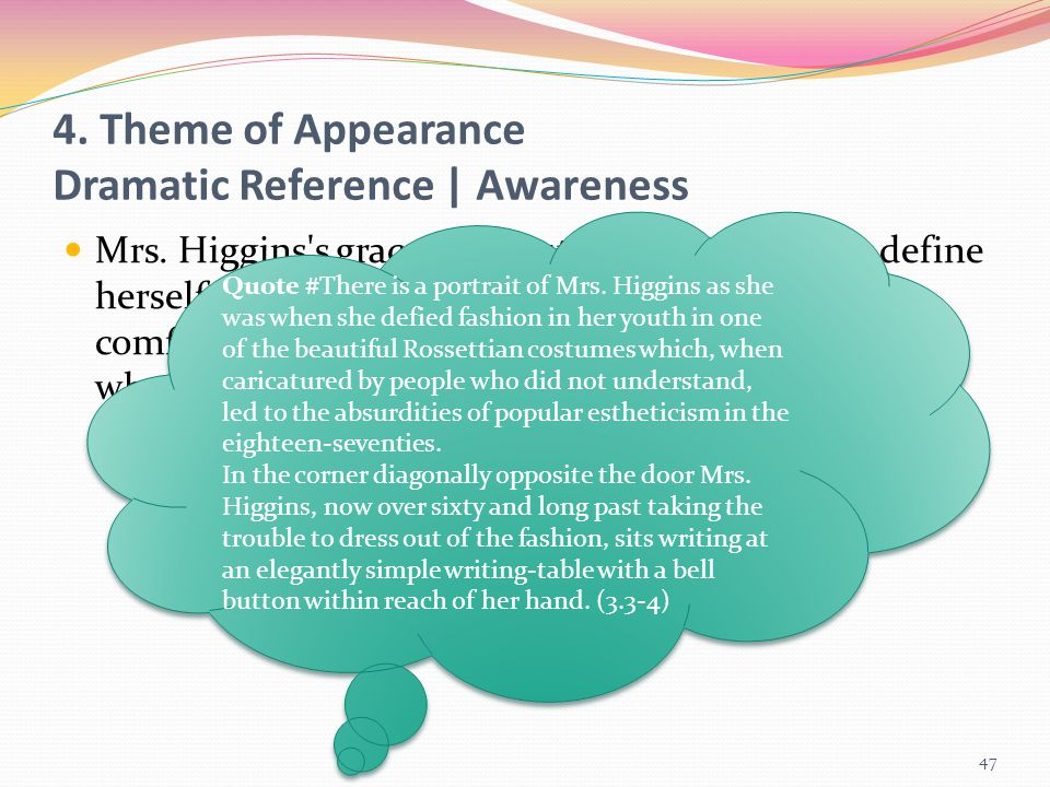 4. Theme of Appearance Dramatic Reference | Awareness