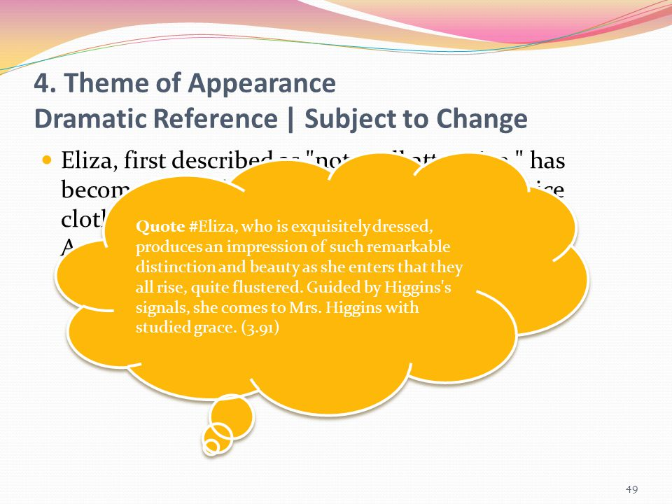 4. Theme of Appearance Dramatic Reference | Subject to Change