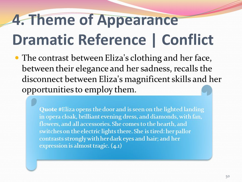 4. Theme of Appearance Dramatic Reference | Conflict
