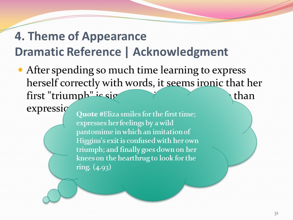 4. Theme of Appearance Dramatic Reference | Acknowledgment