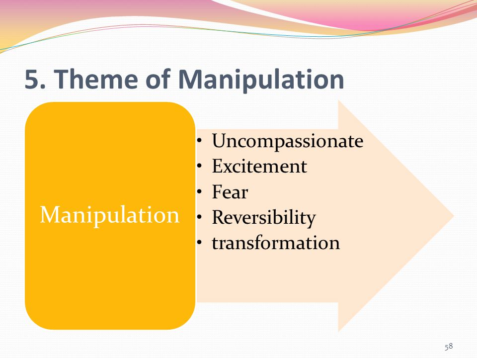 5. Theme of Manipulation Manipulation Uncompassionate Excitement Fear