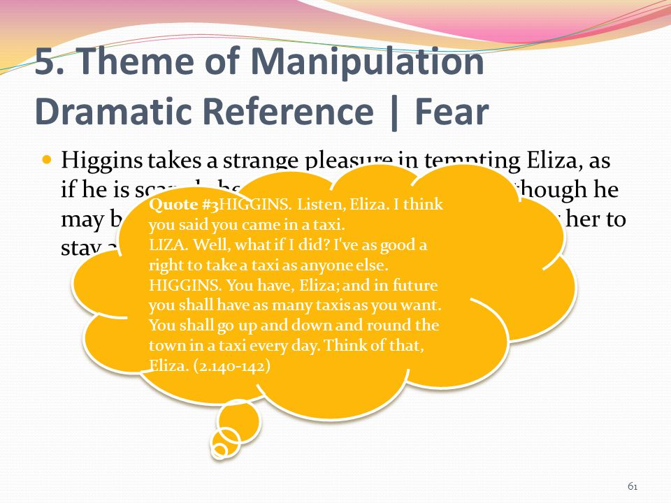 5. Theme of Manipulation Dramatic Reference | Fear