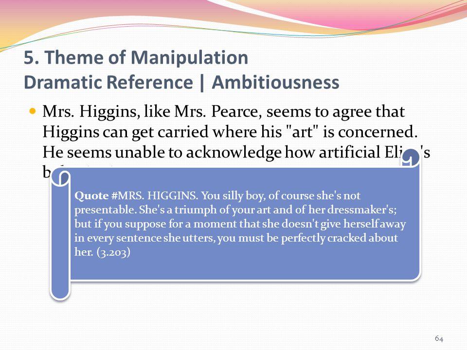 5. Theme of Manipulation Dramatic Reference | Ambitiousness