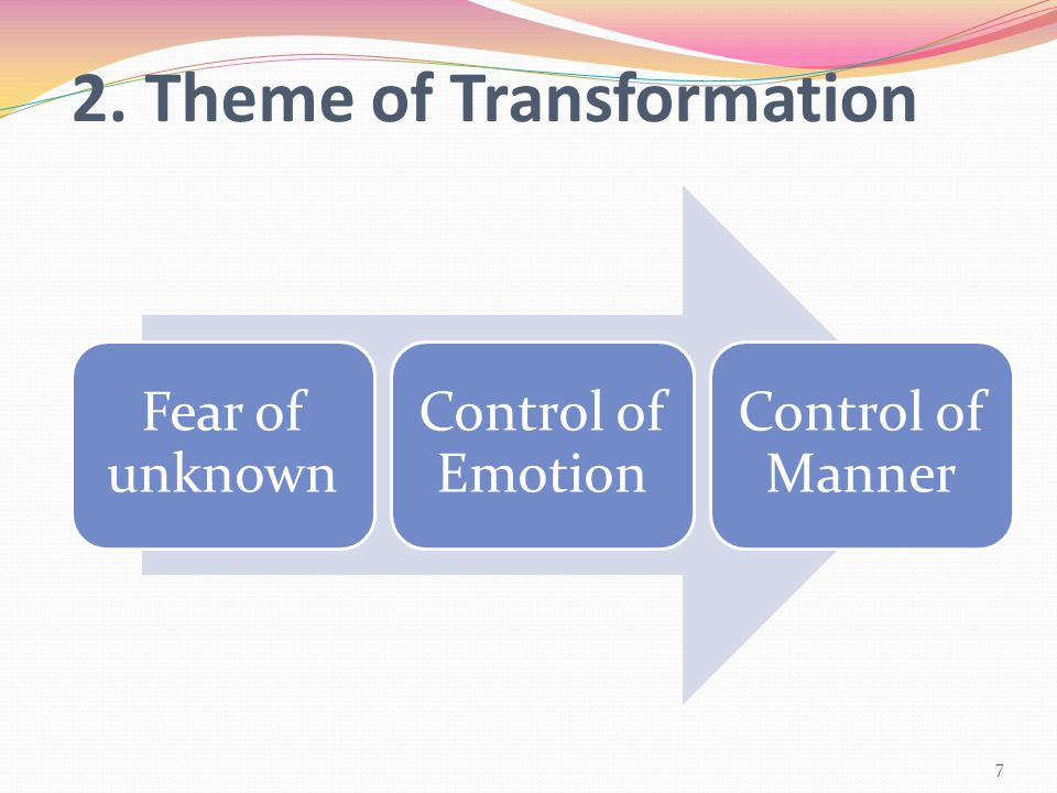 2. Theme of Transformation