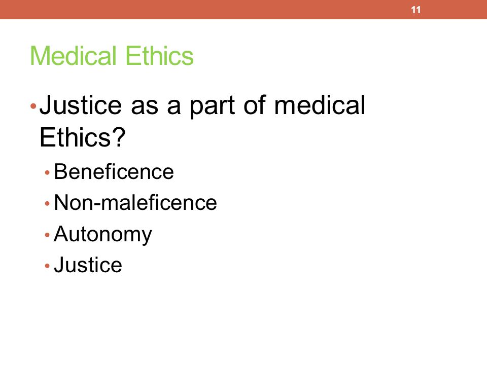 Justice as a part of medical Ethics