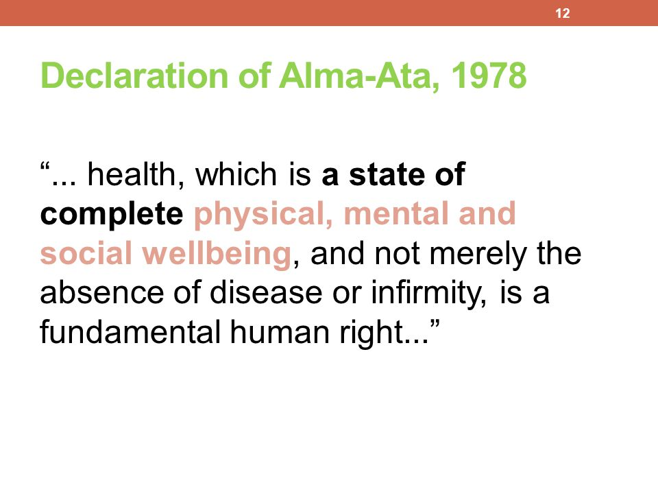 Declaration of Alma-Ata, 1978
