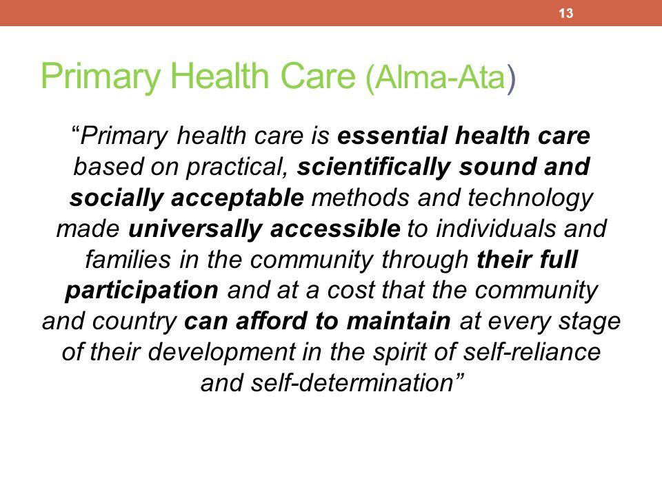 Primary Health Care (Alma-Ata)