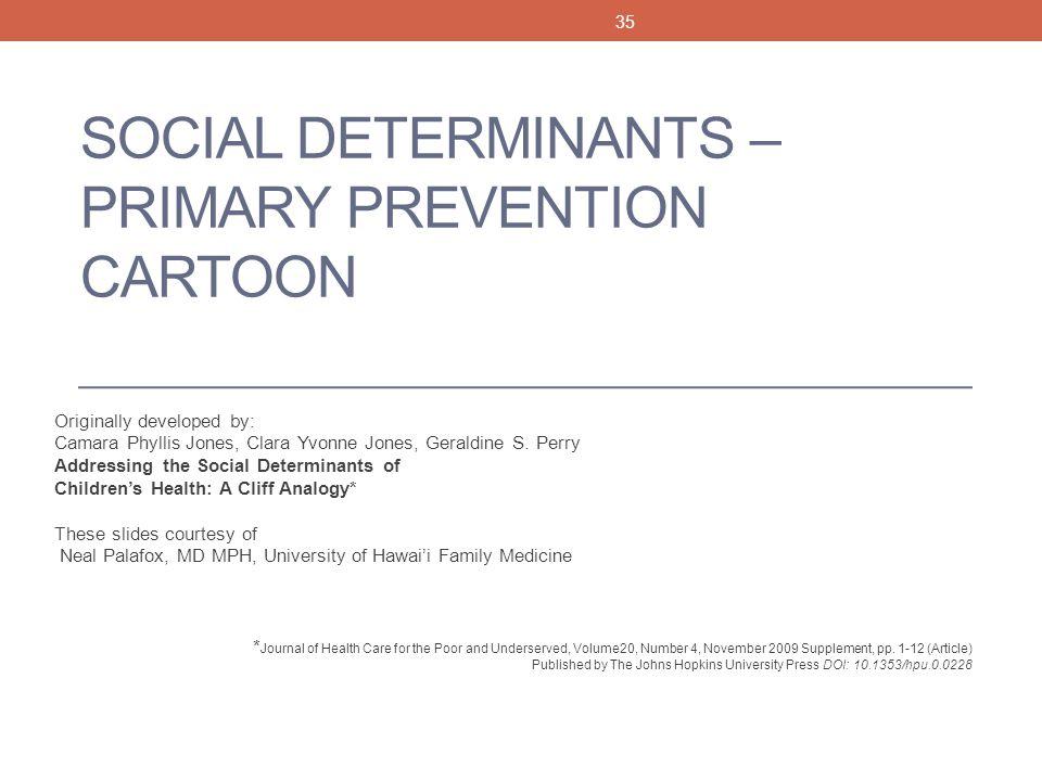 Social Determinants – Primary Prevention Cartoon