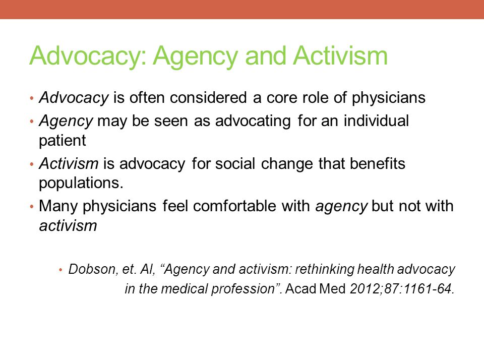 Advocacy: Agency and Activism