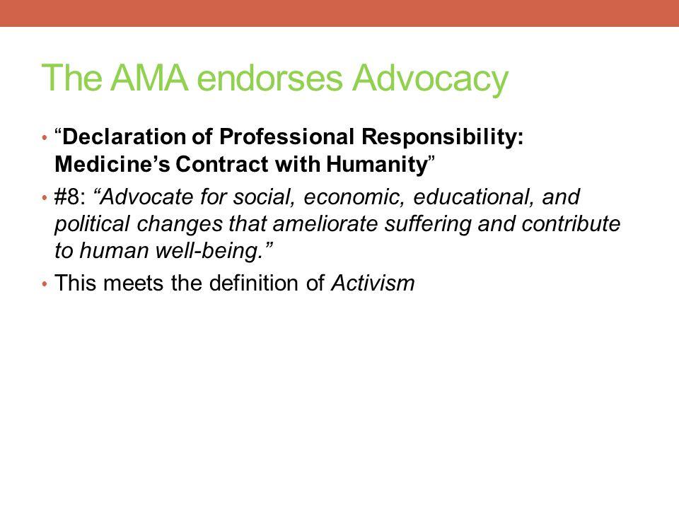 The AMA endorses Advocacy
