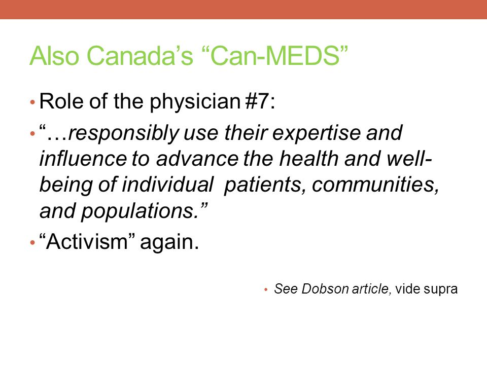 Also Canada's Can-MEDS