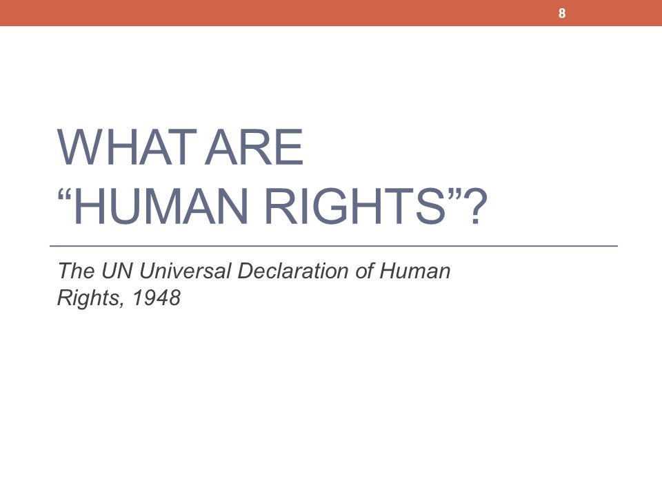What are Human Rights