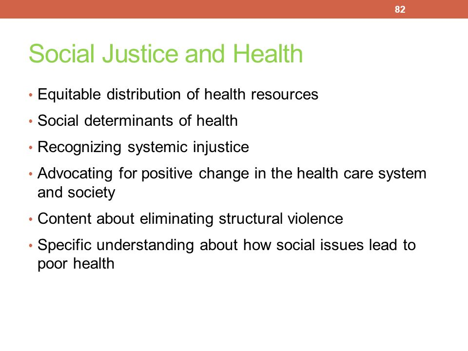 Social Justice and Health