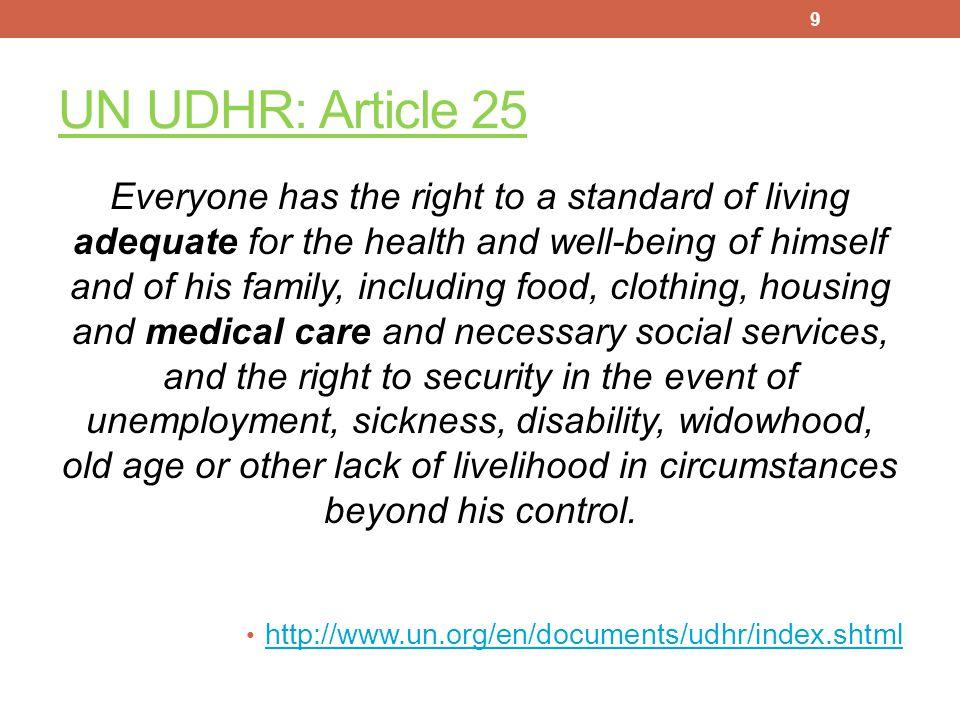 UN UDHR: Article 25