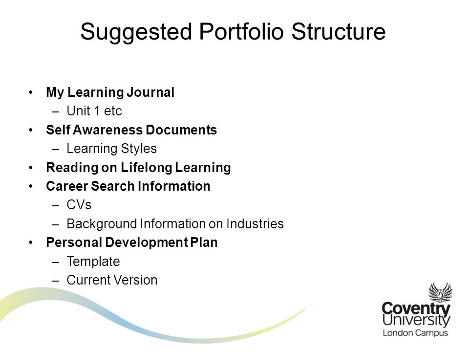 Suggested Portfolio Structure