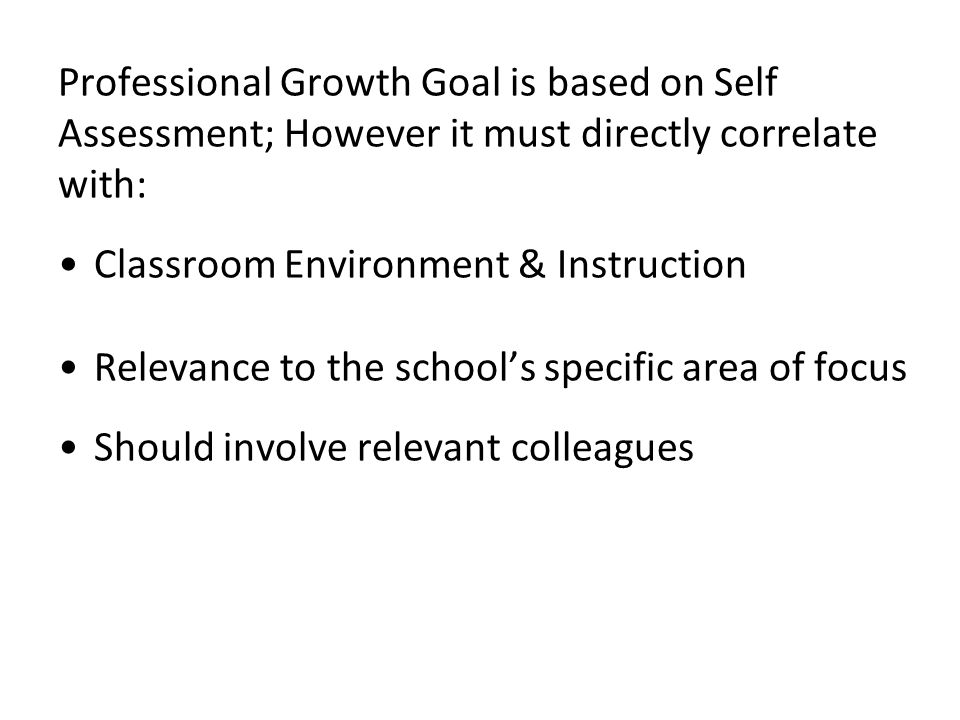 Discuss in Groups 1. How are teachers/other staff doing with developing goals 2. What are some examples of good goals