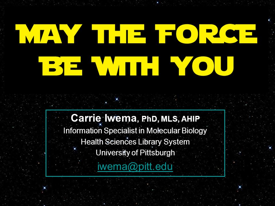 Carrie Iwema, PhD, MLS, AHIP