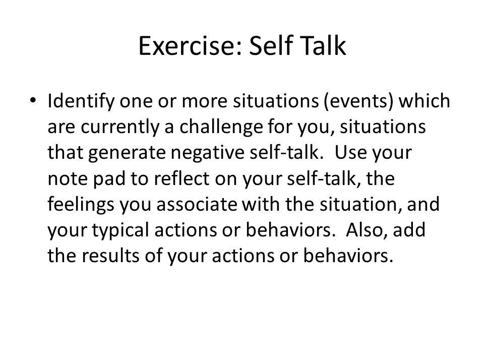 Exercise: Self Talk