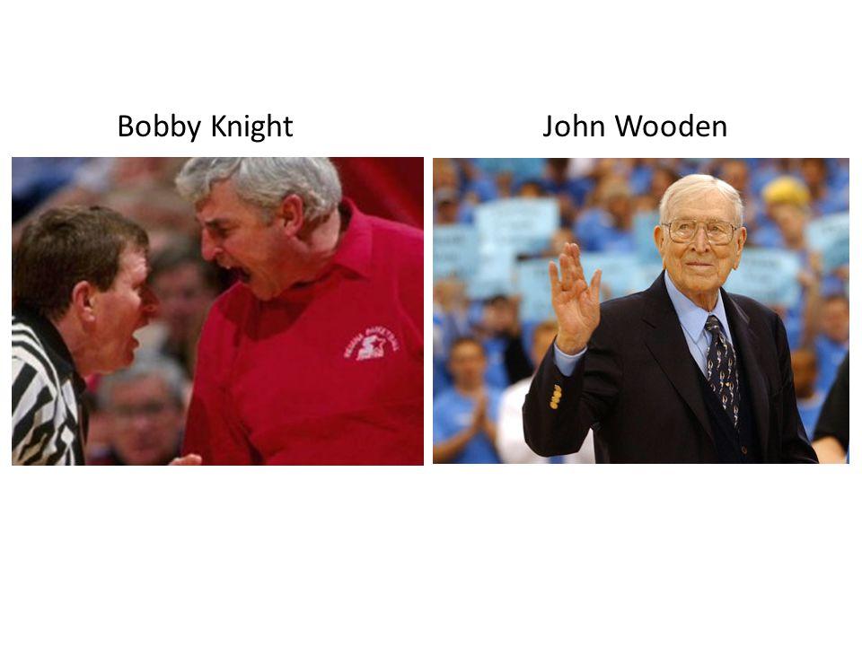 Bobby Knight John Wooden