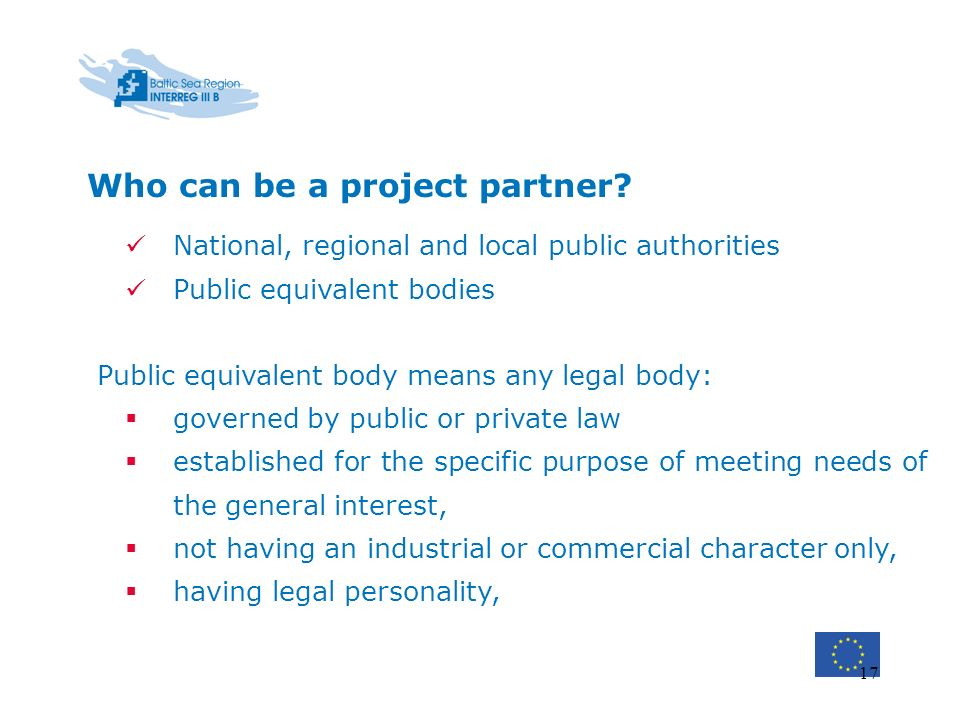 Who can be a project partner