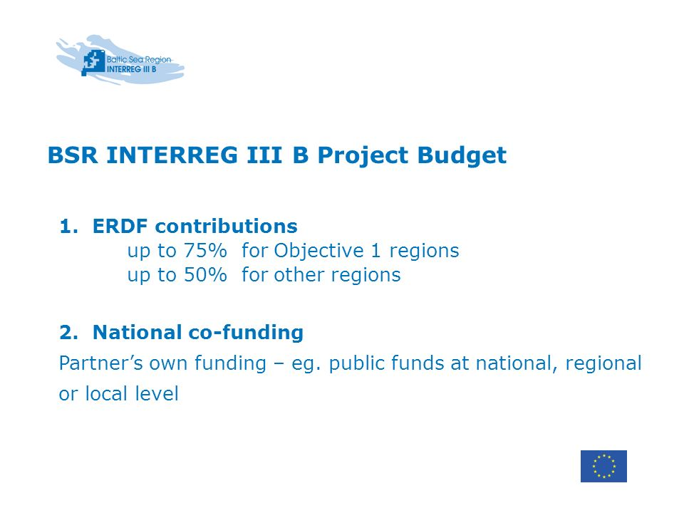 BSR INTERREG III B Project Budget