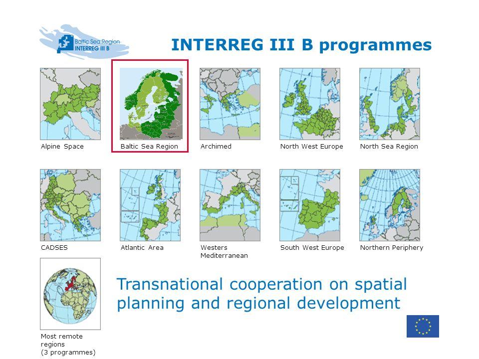 INTERREG III B programmes