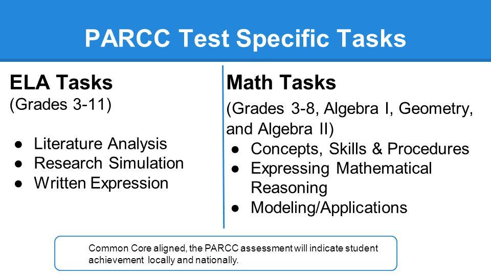 PARCC Test Specific Tasks