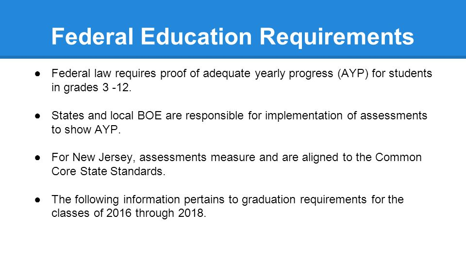 Federal Education Requirements