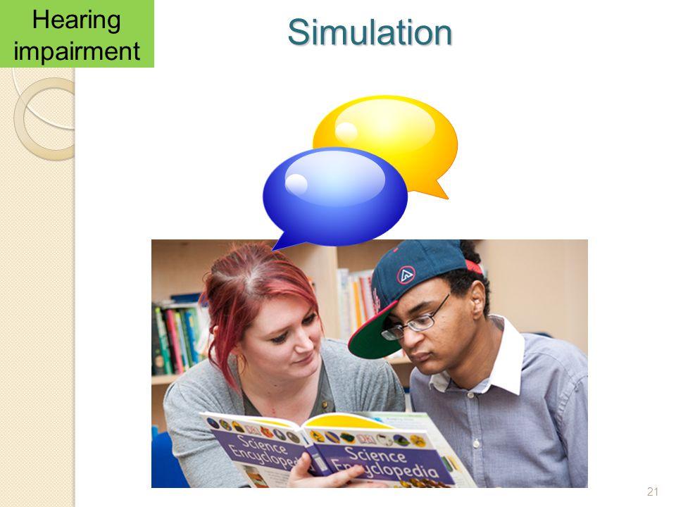 Hearing impairment Simulation 21