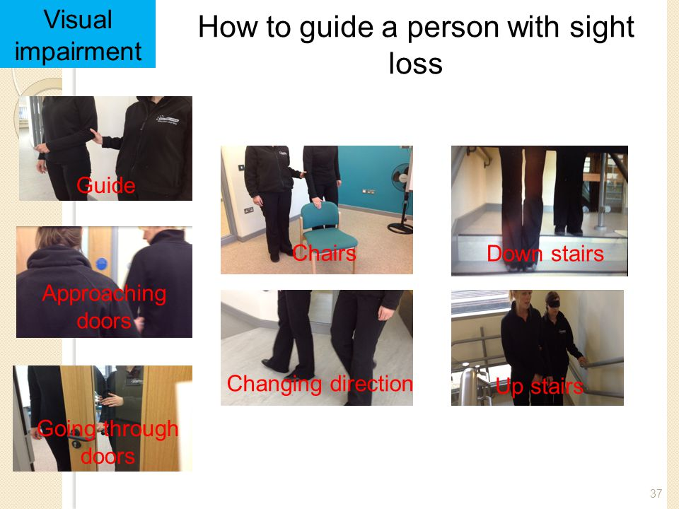 How to guide a person with sight loss