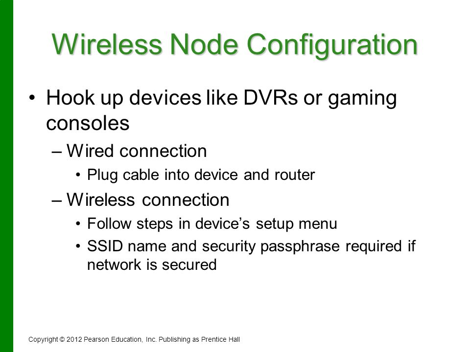 Wireless Node Configuration