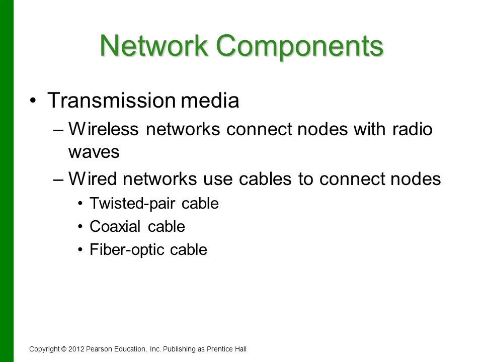 Network Components Transmission media
