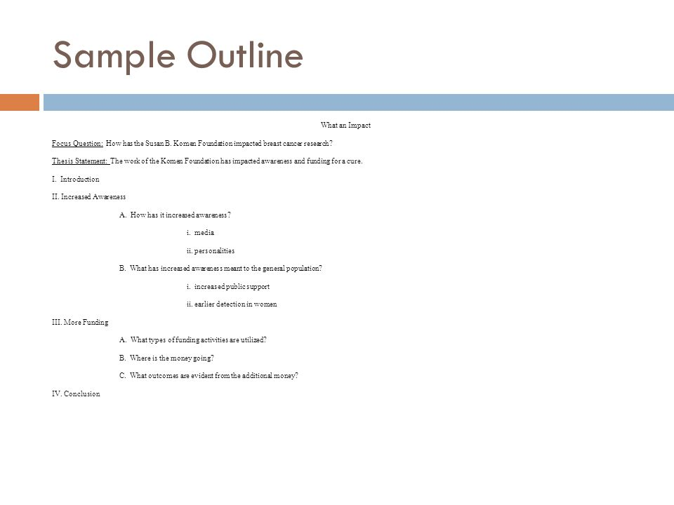 Sample Outline