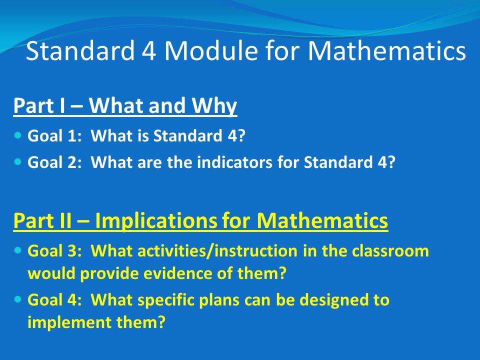 Standard 4 Module for Mathematics