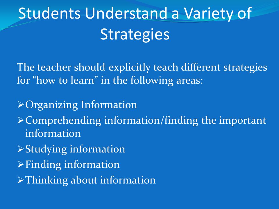 Students Understand a Variety of Strategies