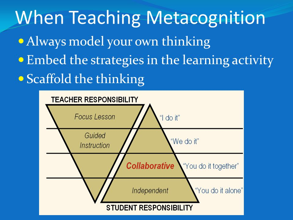 When Teaching Metacognition