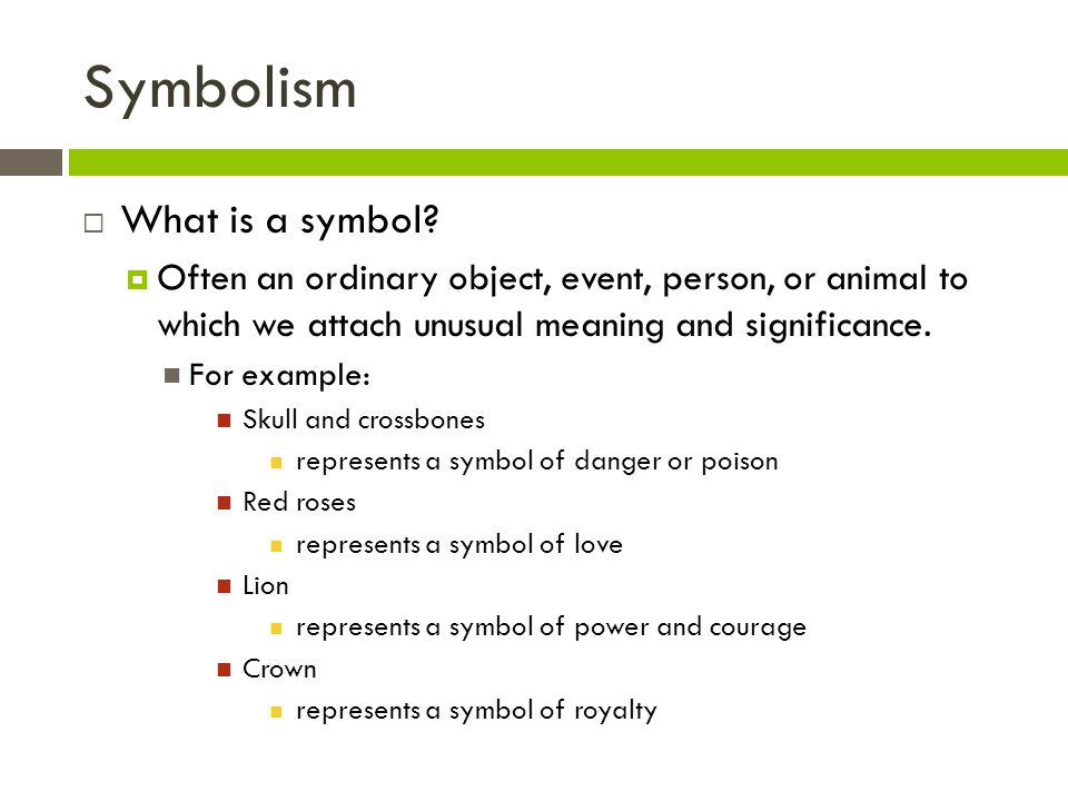 An Example Of Symbol Symbol Sentence Examples The Three Main Types