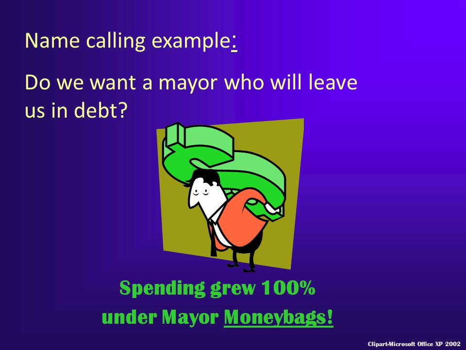 Do we want a mayor who will leave us in debt