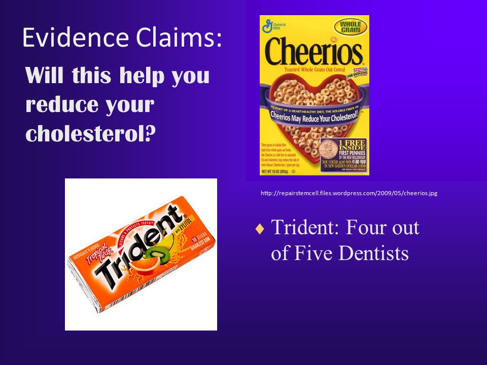 Evidence Claims: Will this help you reduce your cholesterol