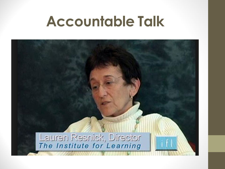 Accountable Talk 3 mins. Remember within the close reading time we need to allow students time to discuss their ideas with a partner.