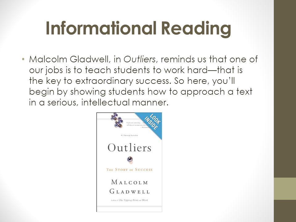 Informational Reading