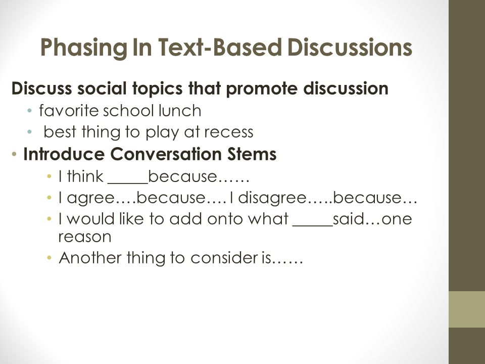 Phasing In Text-Based Discussions