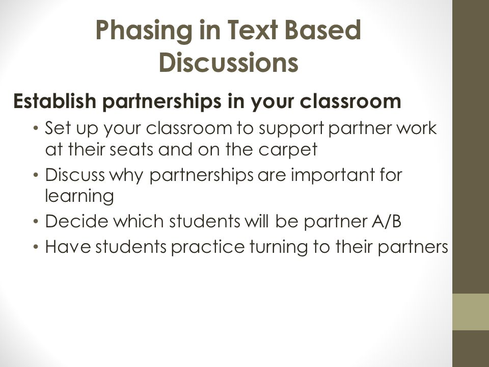 Phasing in Text Based Discussions
