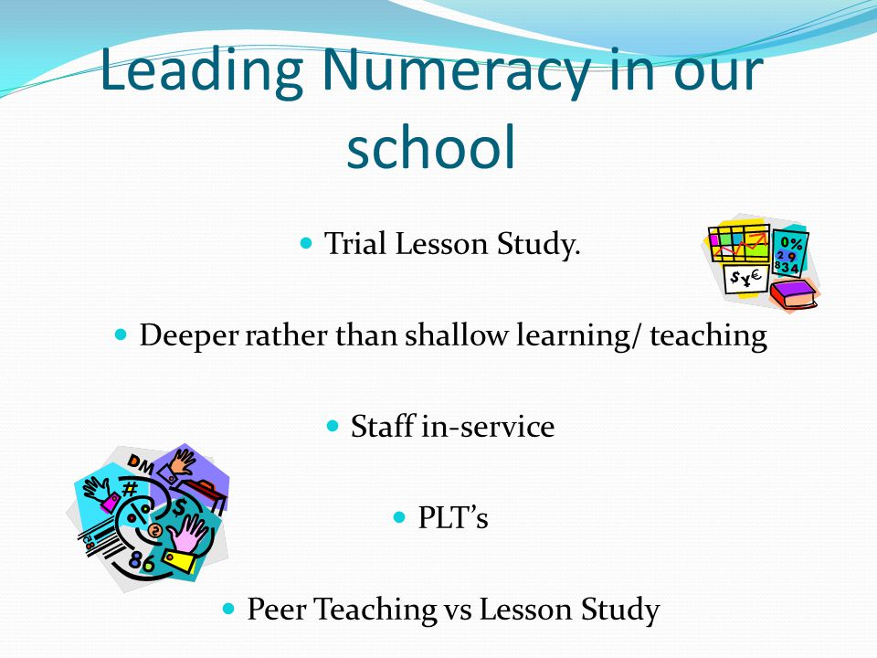 Leading Numeracy in our school