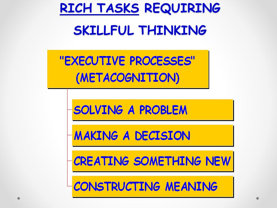 RICH TASKS REQUIRING SKILLFUL THINKING