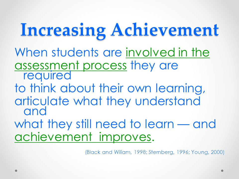 Increasing Achievement