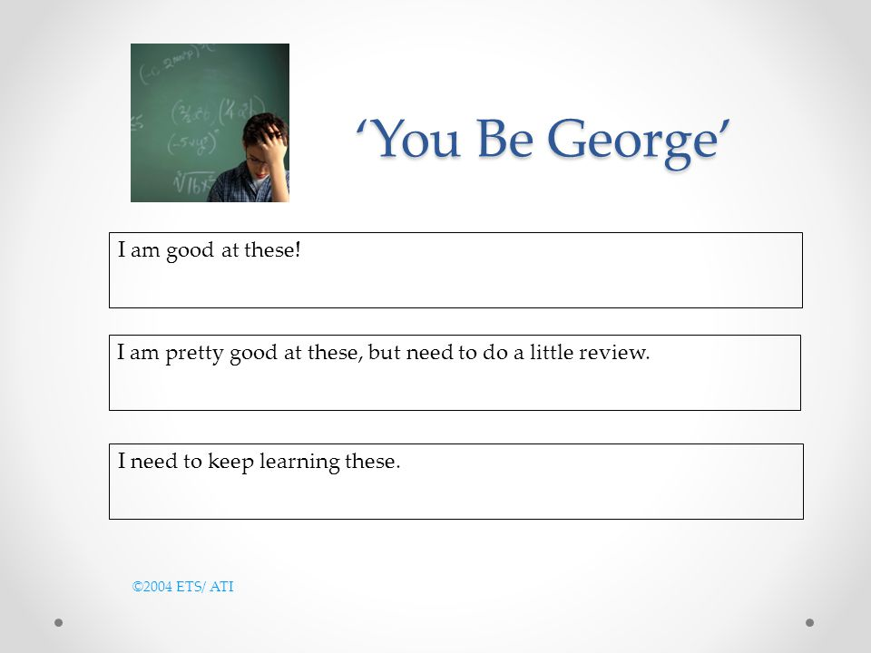 'You Be George' I am good at these!