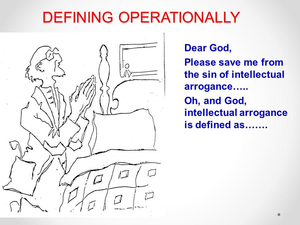 DEFINING OPERATIONALLY
